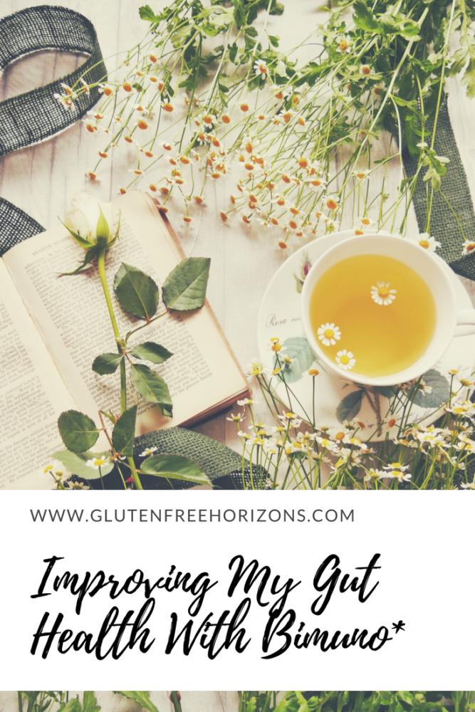 Improving my gut health with Bimuno* - Pinterest| Gluten Free Horizons