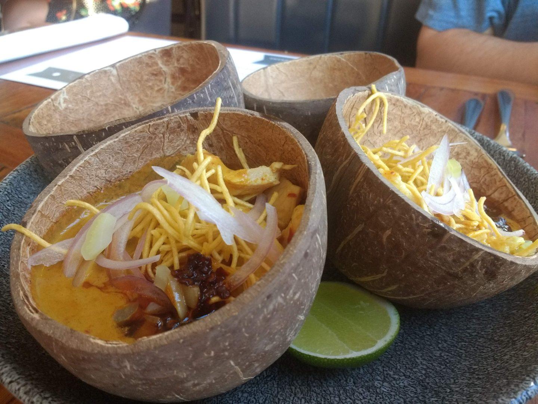 Khao Soy soup at Chilli Banana Liverpool | Gluten Free Thai Food in Liverpool at Chilli Banana