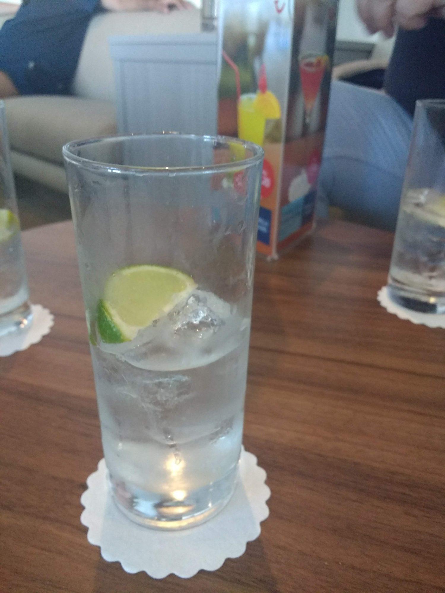 Eating Gluten Free on Marella Cruises - gin measure