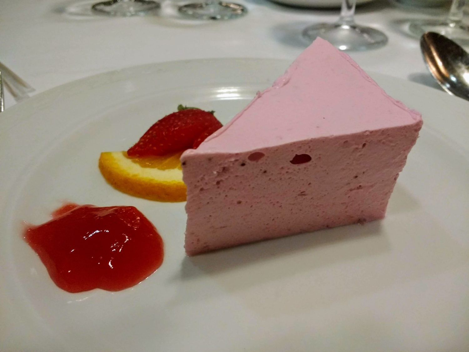 Eating Gluten Free on Marella Cruises - strawberry mousse