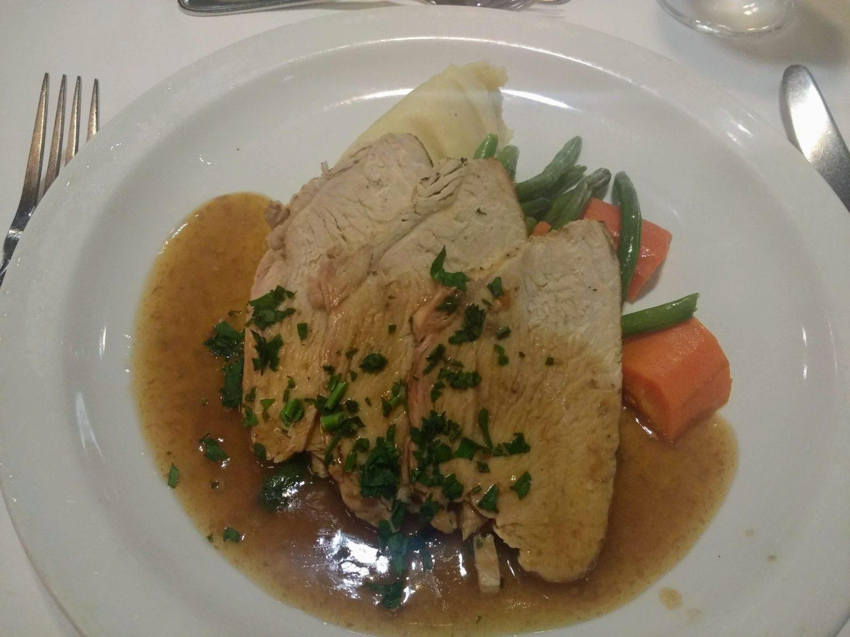 Eating Gluten Free on Marella Cruises - roast turkey