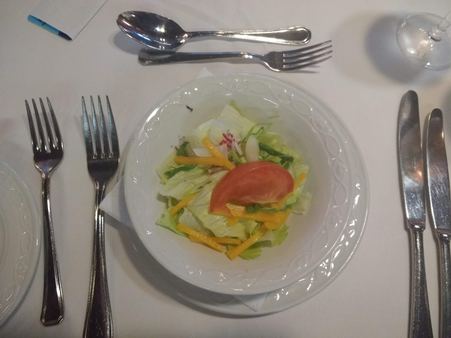 Eating Gluten Free on Marella Cruises - cheese salad