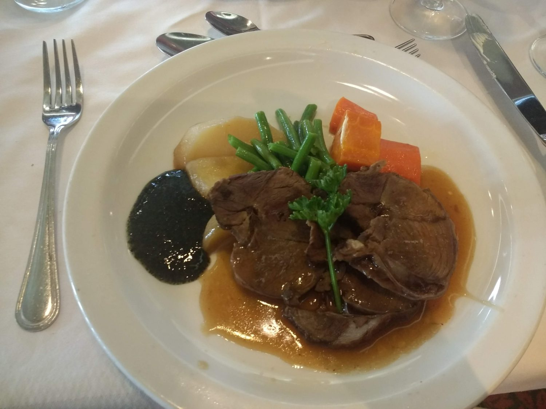 Eating Gluten Free on Marella Cruises - roast lamb