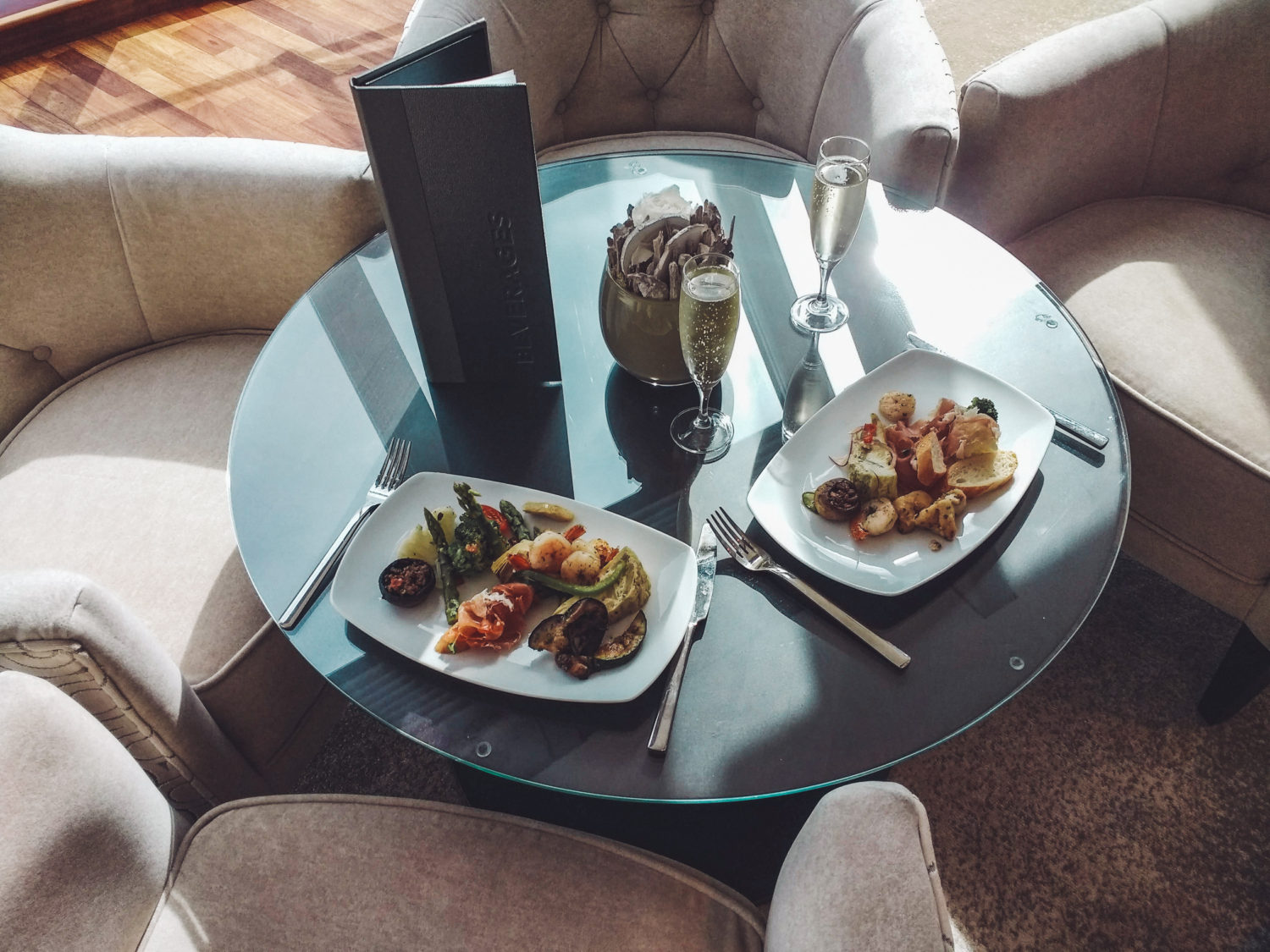 Azamara Pursuit - tapas in the Living Room