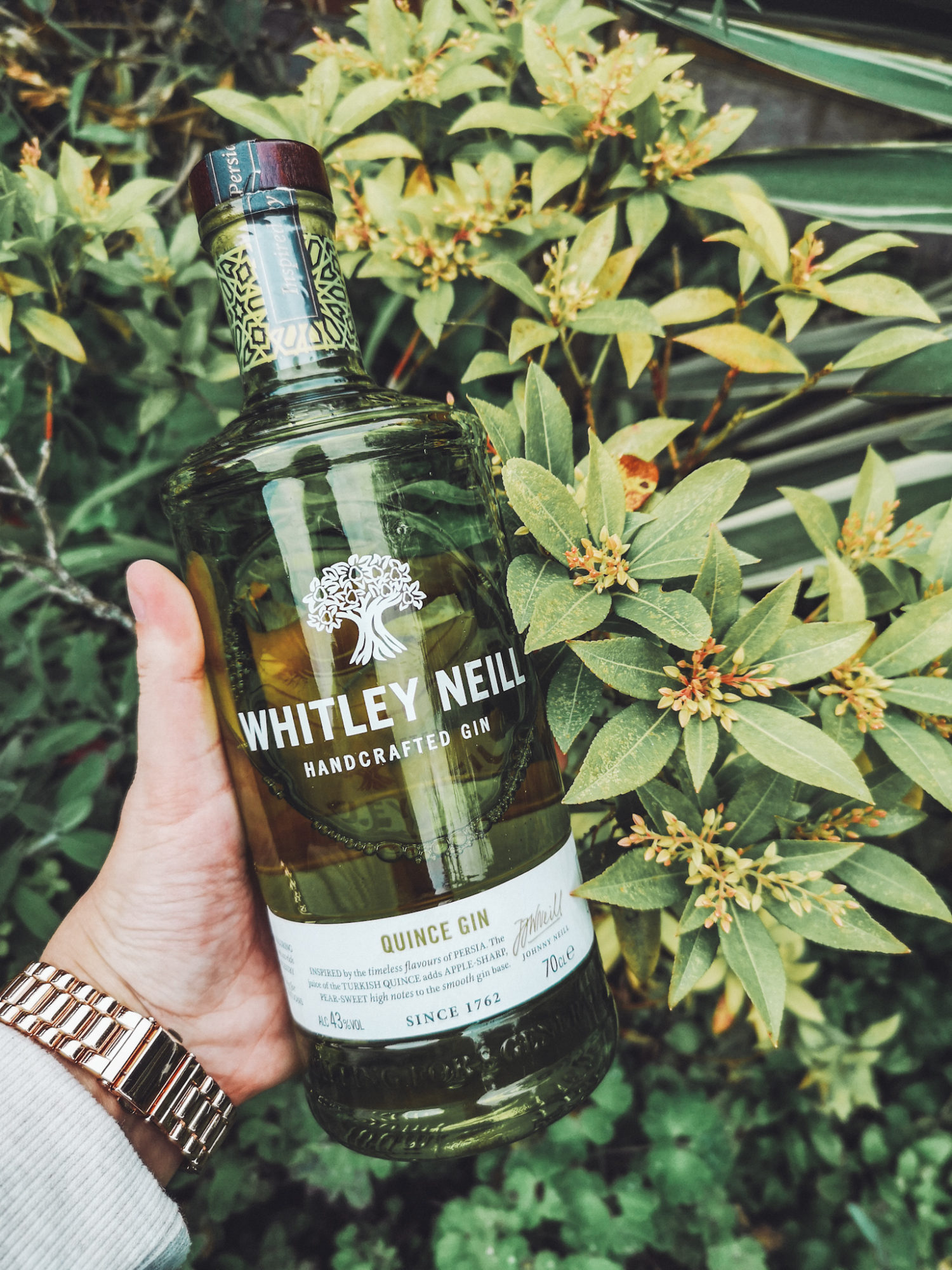 Gluten Free Whitley Neill quince gin