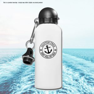Gluten Free And All at sea water bottle - perfect for gluten free cruisers
